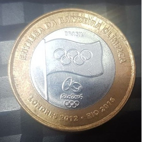 Moeda Comemorativa Entrega Da Bandeira Olimpíca - 2012