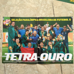 Pôster Placar Seleção Paralímpica Brasileira De Futebol 5