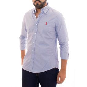 Camisa Social Ralph Lauren Cust Fit Listrada Preto E Branco 8117d030464ac