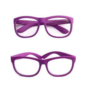 65f9664fa0e8e Armação Óculos Grau Silicone Menina Flexivel S814 Lilás