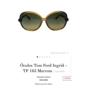 4a5d9fc151fb3 Óculos Tomford Original Ingrid Tf163   71f