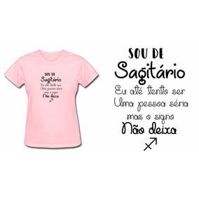 Camiseta Baby Look Feminina Rosa Sagitário Signos Do Zodíaco 7f80ceb79c0
