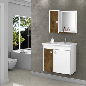 Gabinete Banheiro Com Pia Munique Branco_avelã