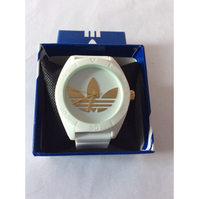 Reloj adidas Originals Analogo Unisex Blanco.dorado Silicon