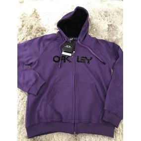 Moletom Oakley Femininas Com capuz Violeta no Mercado Livre Brasil 54484fd6e3e