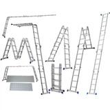 Escada 4x4 Com Plataforma Aço Multifuncional Worker