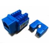 Jack Rj45 Cat 6 Azul Utp Conector Red Comprobado Con Fluke