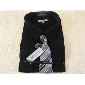 Camisa De Vestir Con Corbata 4xl Y 5xl Negro Ó Gris