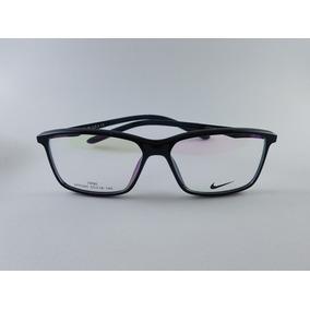 0db46a44c427e Armação Oculos De Grau Masculino Nike Original Acetato Preto. R  139