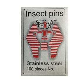 100 Alfileres Entomológicos #000 Acero Inoxidable. Insectos