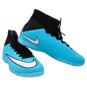 9685f6b342 Chuteira Nike Botinha Futsal Infantil Cr7 - Chuteiras Azul celeste ...