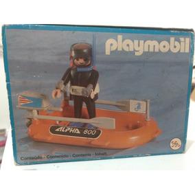 Playmobil Trol,bote E Mergulhador Completo+catálogo+caixa