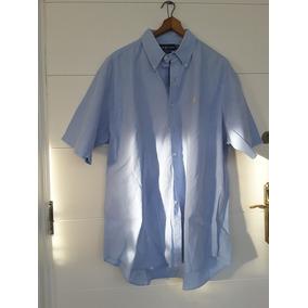 f4d3539400 Camisa Polo Ralph Laurent Blake Anga Corta Celeste Hombre