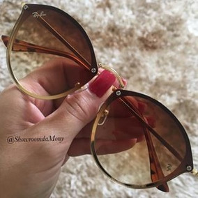 c004ebb06f6bc Ray Ban Blaze Round Marrom - Óculos no Mercado Livre Brasil