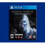 Shadow Of Mordor Ps4 Edicion Game Of The Year Middle Earth