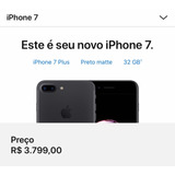 Iphone 7 Plus | Preto Matte | 32gb | Oportunidade |