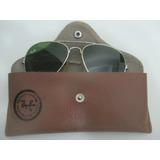 Óculos Rayban Aviador Antigo Com Case Peça Vintage Anos 1980 50bd3c4489