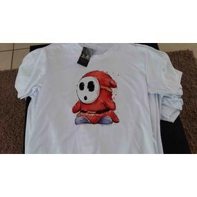 Playera Sublimada Super Mario Bros 3 Shyguy Mario Y Consolas