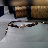 Pulsera Piel Serpiente, Goldfilled Galle Y Perla Cultivada