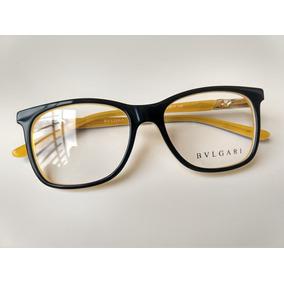 8cb3620992237 Armacao Oculos Bvlgari Acetato Quadrado Feminino Importado