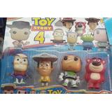 Muñecos Toy Story 4 - Tipo Funko Pop - Set X 4 Personajes