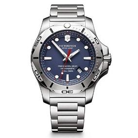Relogio Victorinox Swiss Army Inox Azul/aço/prata Suíço 45mm