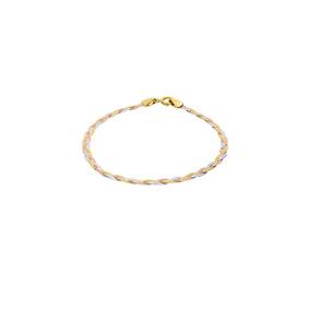 Pulsera De 14k Oro Florentino 18.5cm Cal 25-025gdbdei3f185f