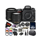 Cámara Slr Digital Nikon D750 Lentes De 18-140 Mm Y 55-200m