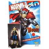 Thor Figura Marvel 3d Salvat Nro 5 Nueva Con Fasciculo