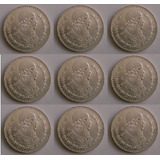 9 Monedas De Plata Antiguas De 1 Peso Morelos De Coleccion