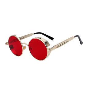 Óculos De Sol Redondo Retrô Vintage Steampunk - Várias Cores d09750efc6
