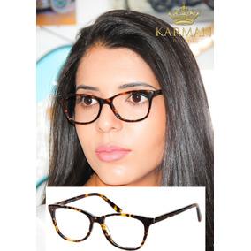Oculos Armação Feminina P  Grau Fendi 0068 Acetato Premium 9246d93789