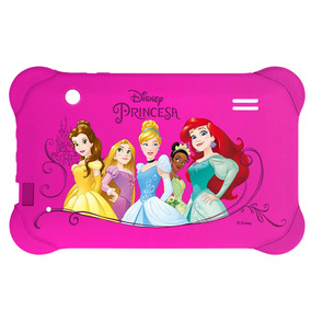 Capa Para Tablet 7 Pol Disney Princesas Rosa Case Multilaser