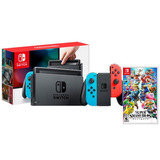 Nintendo Switch With Neon + 1 Juego Varios Modelos Original