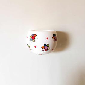 Vaso Decorativo Branco C/ Imãs