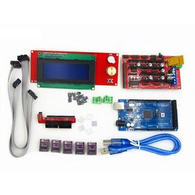 Kit Arduino Mega 2560+ Ramps 1.4 + 5 Drv8825 + Display Lcd