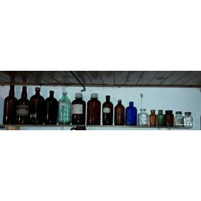 Botella Frasco De Farmacia Laboratorio Lote De 16