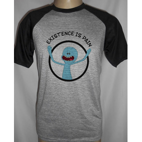 Camiseta Raglan Rick And Morty Messeeks Existence Is Pain!