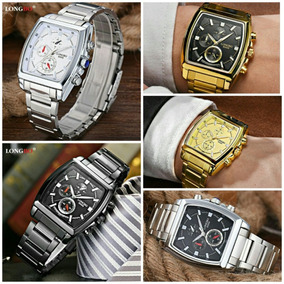 74b7f6d85d5 Relogio Longbo Com Datador Dourado - Relógios De Pulso no Mercado ...