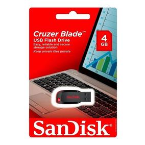 Pendrive Sandisk 4gb Cruzer Blade Nuevo Y Sellado