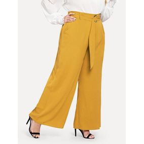 Pantalón Vestir Amarillo, Tallas Extras 2xl Y 3xl