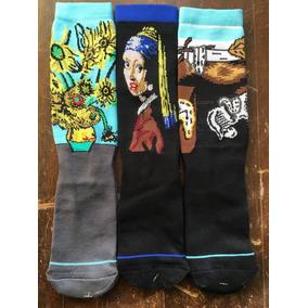 Calcetas Stance Arte: Van Gogh, Dalí &vermeer (3 Pares)