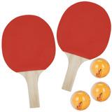 Kit Tenis De Mesa Ping Pong 2 Raquetes + 3 Bolas Belfix