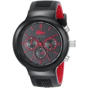 Borneo Hombre Cronógrafo Reloj Color: Negro / Red