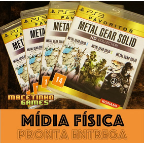 Metal Gear Solid Hd Collection Ps3 Mídia Física Lacrado Novo