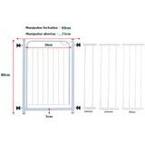 Grade Portão De Segurança P/ Porta + Kit 3 Extensores