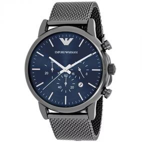 94ce027df1ca0 Relógio G971 Luxo Emporio Armani Ar1979 Cinza Aço Novo