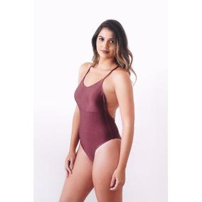 Body Nadador Vinho Ferrugem - Moda Praia - Pepperchic