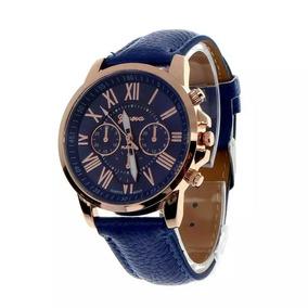Relógio Azul Quatzo Frete Grátis