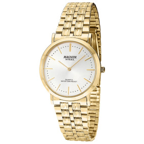 d50834548ea Relogio Slim Masculino Dourado Magnum - Relógios De Pulso no Mercado ...
